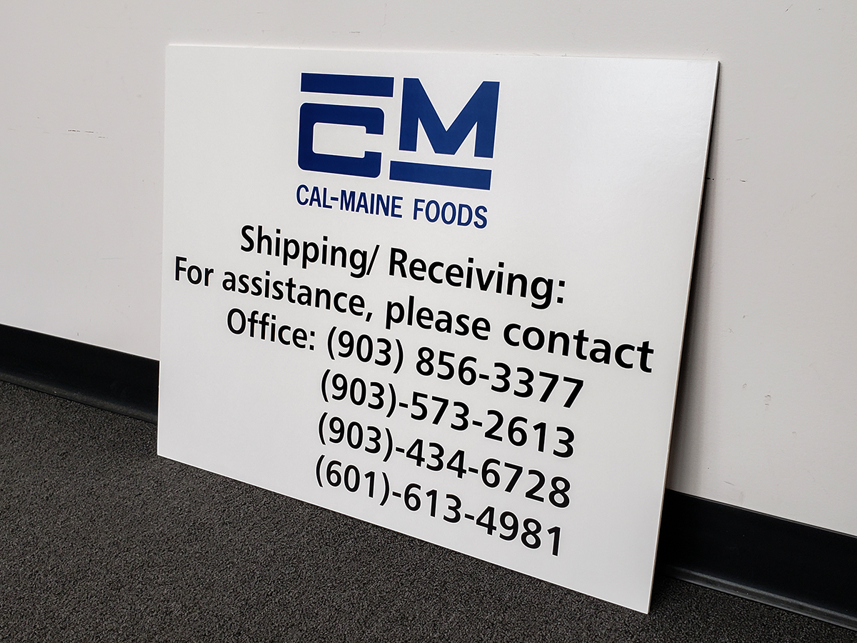 Foamcore Sign